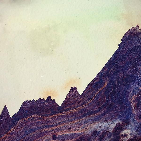 Výtvarná fotografie cyklus Krajiny imaginace. Černé hory symbolizující Mordor z Pána prstenů.